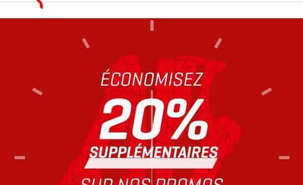 Remise sur les promotions Puma de 20%