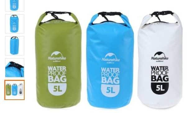 Sac etanche NatureHike 5 litres a moins de 5€
