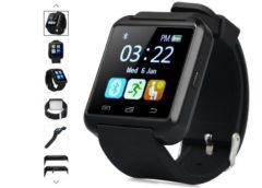 Smart montre U8S à seulement 7,23€ port inclus (podomètre, appels, messages…)