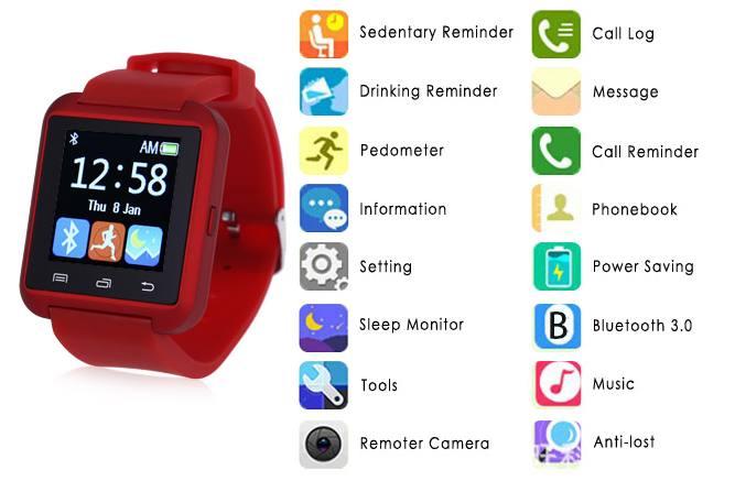 Smart montre U8S pas chère