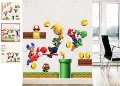 Sticker mural Mario, Luigi… à seulement 3,66€ port inclus