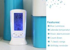 Seulement 2,71€ l' Horloge multifonctions (thermomètre/ calendrier/ alarme) – livraison gratuite