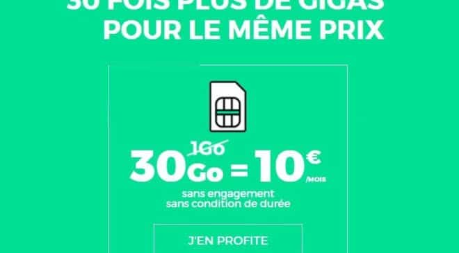 Vente flash forfait RED SFR 30Go
