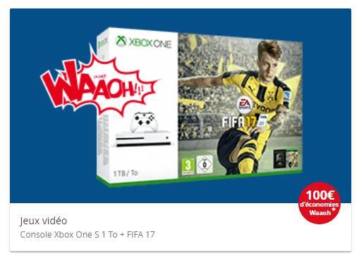 Xbox One S 500Go FIFA 17 qui revient à moins de 200€