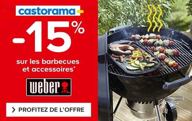 remise sur tous les barbecues Weber chez Castorama