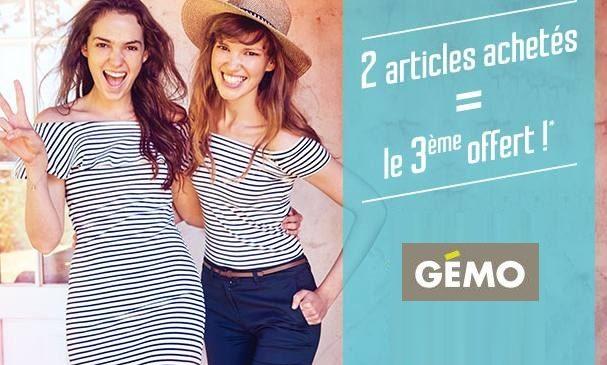 troisième article gratuit sur GEMO