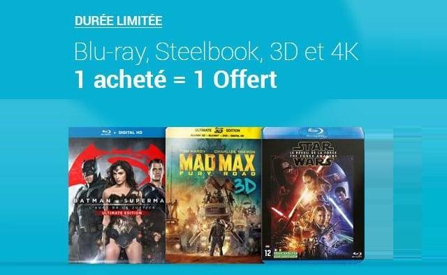 1 Blu-ray acheté = 1 Blu-ray gratuit sur FNAC