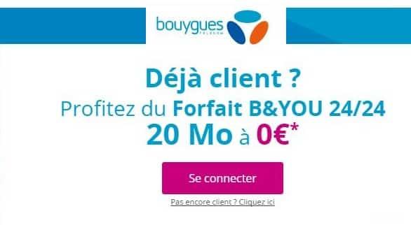 1 forfait B&You gratuit (20Mo Appels, SMS/MMS illimités)