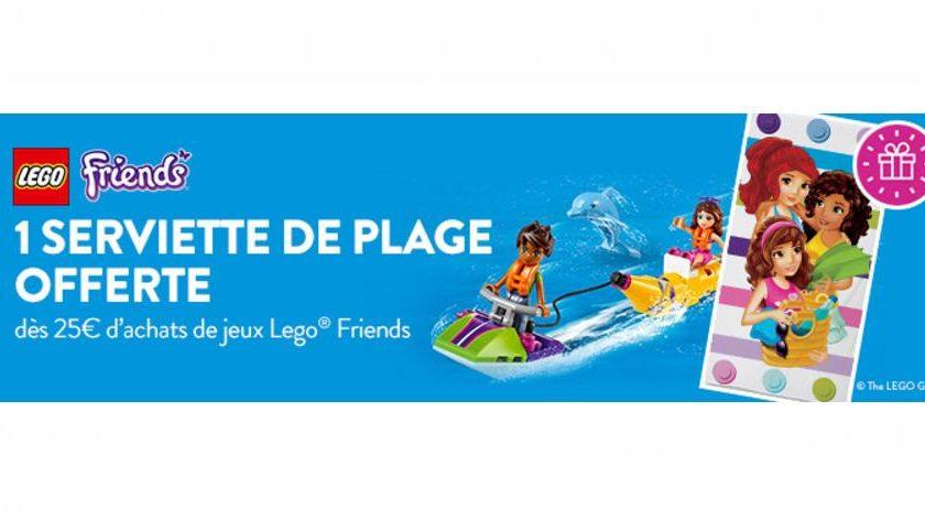 1 serviette de plage LEGO Friends gratuite