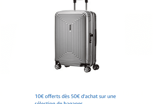 10€ sur les bagages & sacs AMAZON