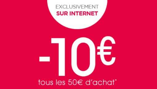 10€ offerts tous les 50€ d'achat OXYBUL