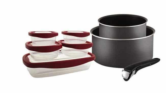 9,99€ les 2 casseroles Ingenio Tefal et poignée et 5 boites kippers