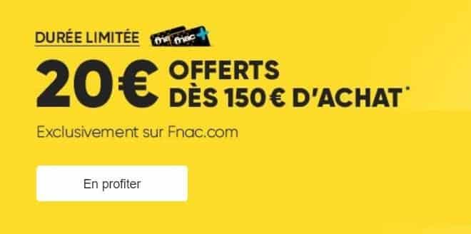 20 euros remises FNAC