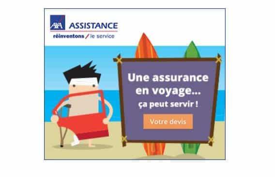 AXA Assistance -10% sur l'assurance voyage