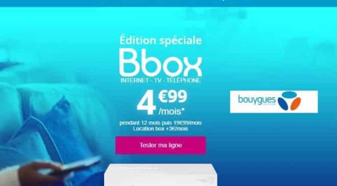 Bbox : 4,99€/mois la Box Internet