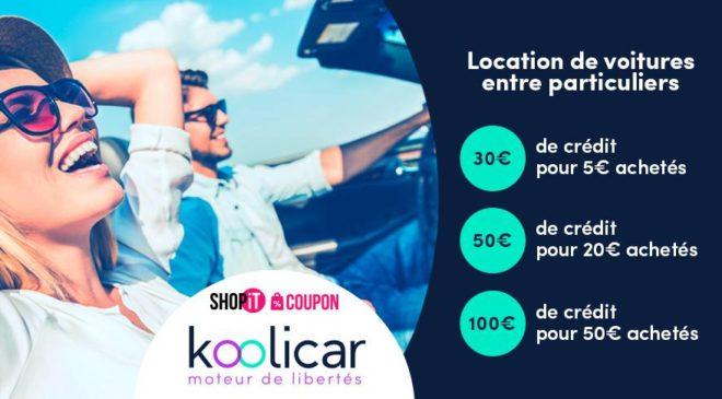 Bon d'achat Koolicar location voiture entre particulier