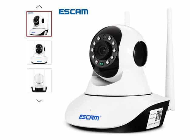 Caméra de surveillance Wi-fi vision nocturne Escam G02