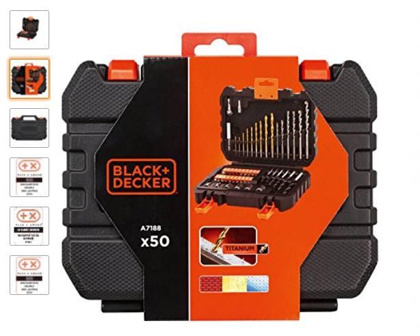 Coffret Black & Decker 50 embouts et mèches