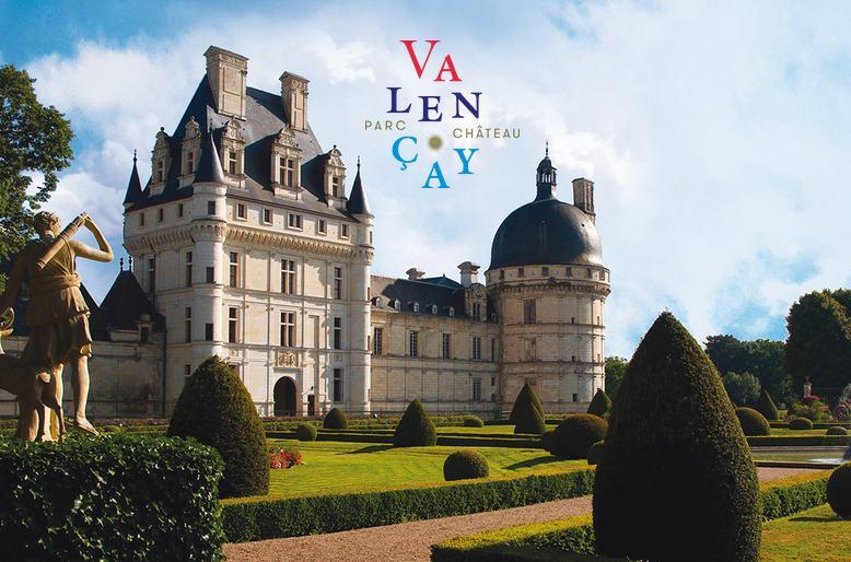 Entrée pour le château de Valencay moitié prix