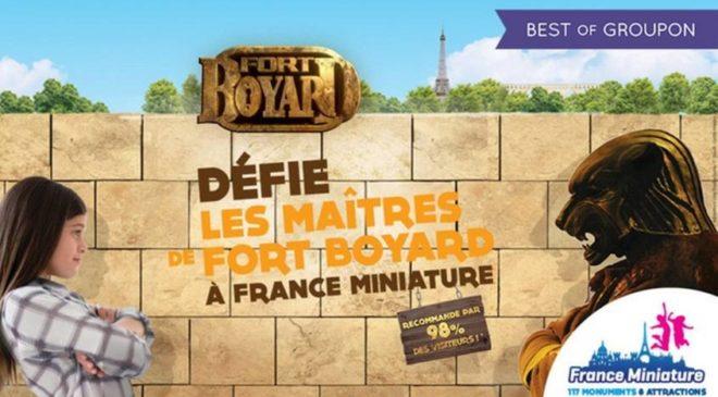 Fort Boyard à France Miniature (et tout le parc) : 15,5€ au lieu de 22€ (10,5€ pour les enfants)