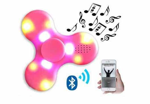 Hand Spinner enceinte Bluetooth LED pas cher