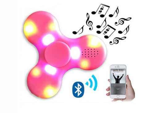 Hand Spinner enceinte Bluetooth LED pas cher
