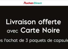 Livraison offerte Auchan Direct pour 3 paquets de capsules Carte noire