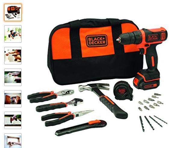 Perceuse-visseuse Black &Decker + 20 outils