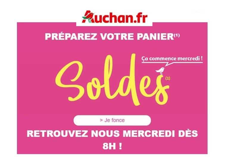 Préparez les soldes d'été Auchan dès maintenant