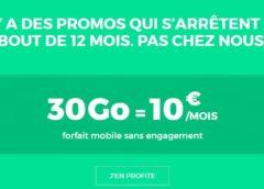 Vente flash forfait RED SFR 30Go à 10€ avec appels, SMS et MMS en France illimité / sans engagement