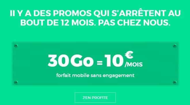 RED SFR forfait 30Go à 10€