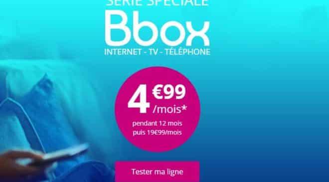 Série Spéciale Bbox : 4,99€/mois la Box