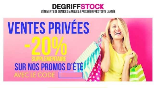 Ventes privées Dégriffstock