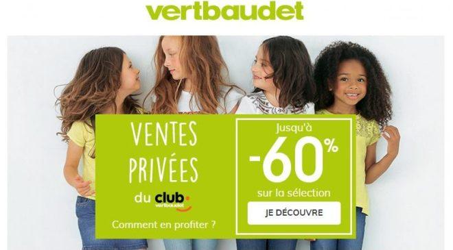 Ventes privées de pré-soldes Vertbaudet