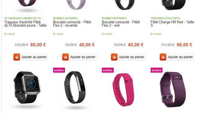 bracelets et montres Fitbit à moitié prix