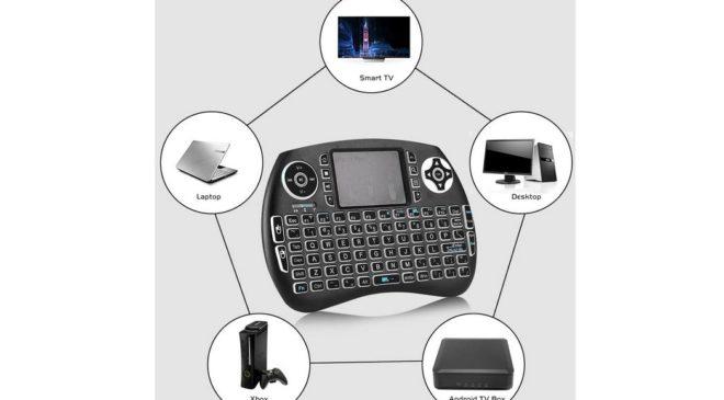 8,12€ le clavier multimédia sans fil avec pavé tactile (PC, PS4, Smart TV, Android TV Box, Xbox…)