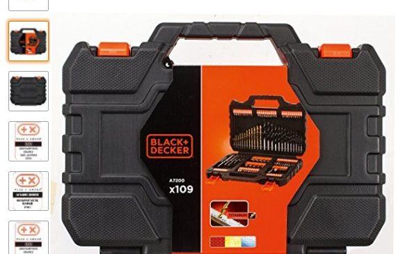 coffret Black & Decker 109 pièces pas cher