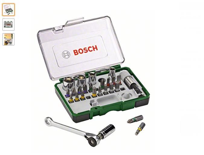 Moins de 15€ le coffret clé à cliquet Bosch avec 25 embouts