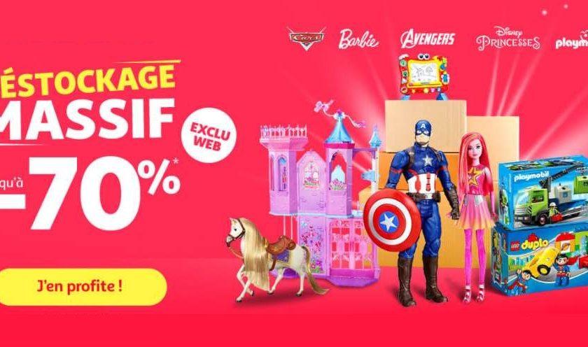 déstockage massif de jouets et jeux sur Auchan
