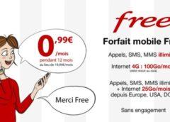 0,99€/mois le forfait Free mobile 100Go internet en vente privée