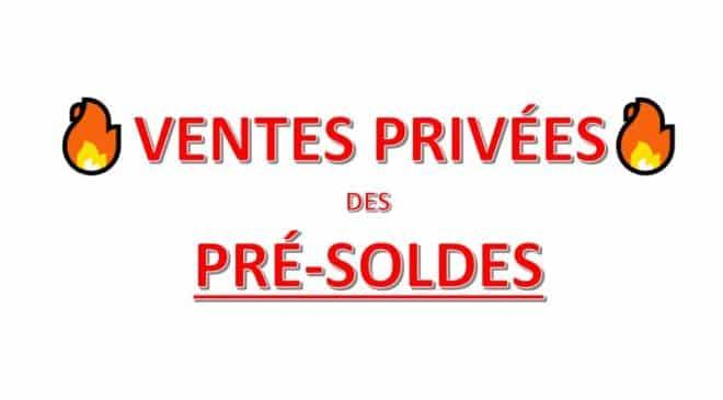 Les ventes privées de pré-soldes 2017 en ligne