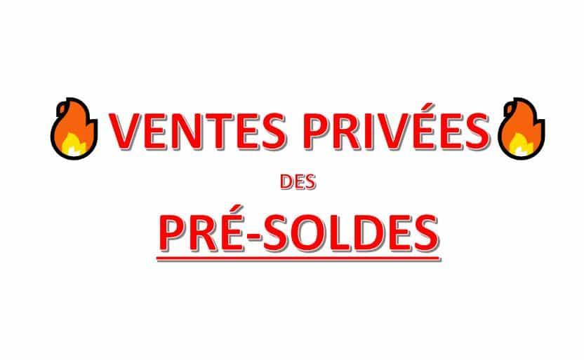 ventes privées de pré-soldes