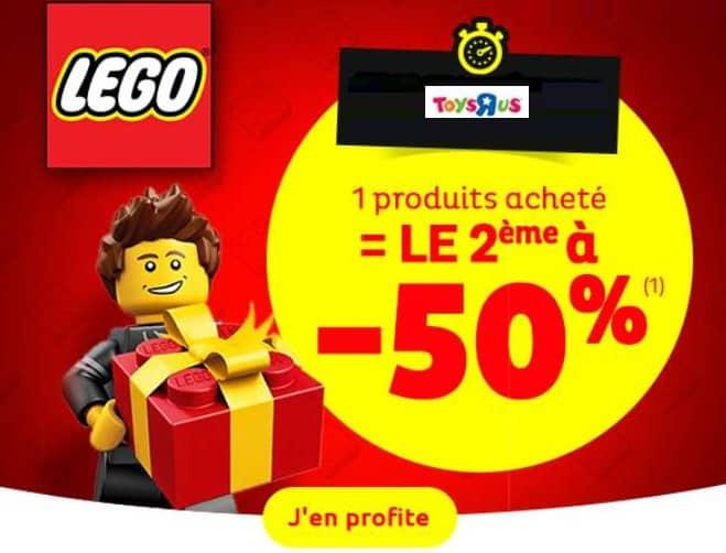 1 Lego acheté la seconde boite à moitié prix
