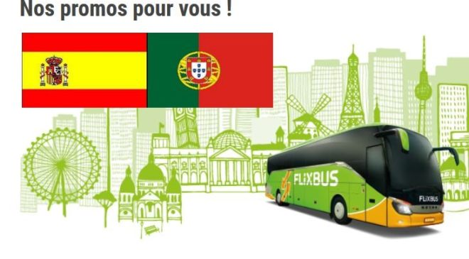 10000 billets Flixbus à 9,90€ vers Espagne et Portugal