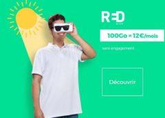 12€ le forfait RED SFR 100Go en illimité (Appels, SMS et MMS) – sans engagement