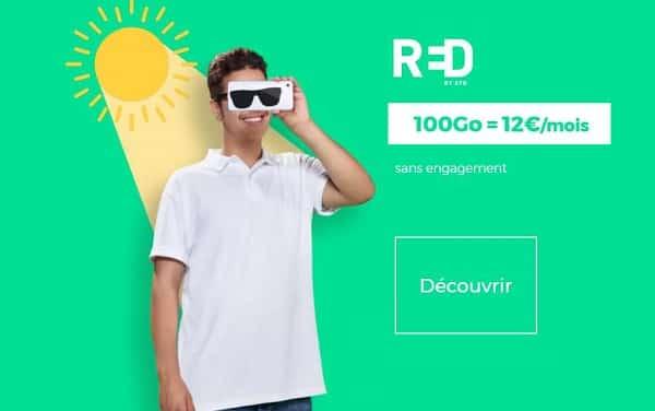 12€ le forfait red sfr 100go en illimité