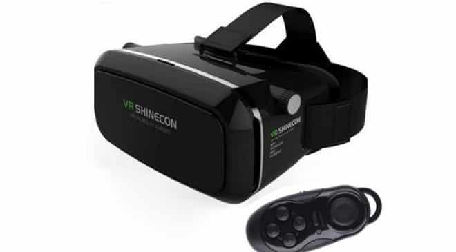 13,11€ casque réalité virtuelle Bluetooth VR SHINECON 3D avec télécommande