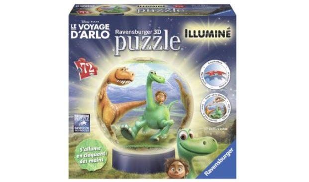 13,32€ le puzzle 3D Good Dinosaur illumine Ravensburger