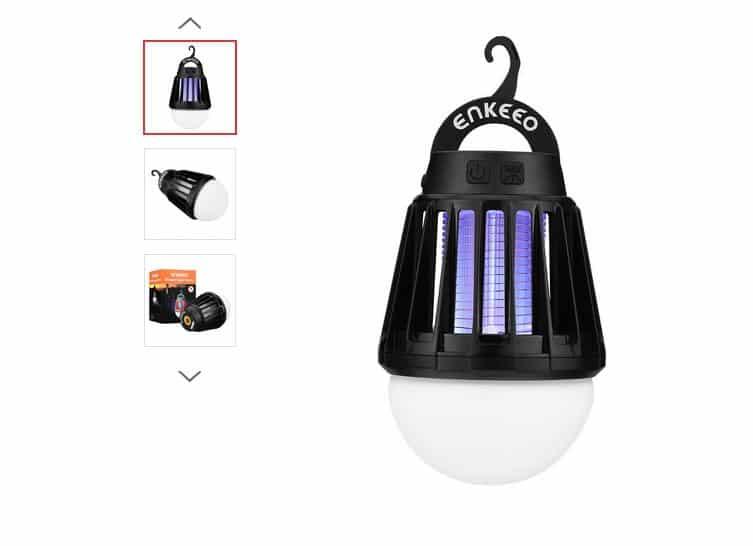 17,69€ la lampe 2 en 1 pour camping anti-moustiques