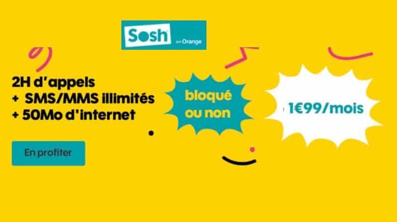 1,99€ le Forfait SOSH 50Mo